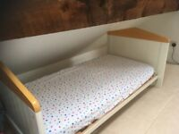Mamas and Papas cot / converts to cot bed. With cot top changer also available