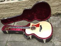 Taylor 814ce Electro Acoustic in Natural, With ES2 Electronics mint condition not gigged