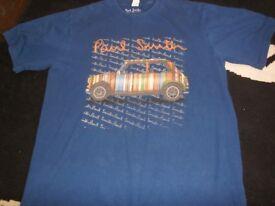 paul smith navy blue mini t shirt