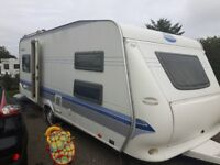 Hobby 560 Prestige, 5/6 berth and it single axle (tow with a car) with bunk beds