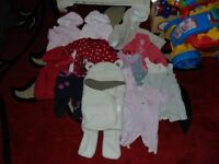 bundle job lot of baby girl clothes 3-6 months 11 items