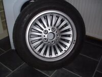 "Brand New, Single 16"" BMW Alloy Wheel with new continental Tyre 225/55r/16"