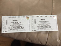 2x X Factor Tour Tickets for Brighton Centre South Stalls