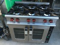 GAS COOKER UNDER CONVECTION OVEN CATERING COMMERCIAL KITCHEN TAKE AWAY FAST FOOD RESTAURANT