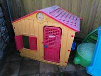 Garden, outdoor playhouse