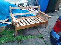 Solid wooden garden benches