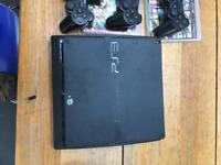 PlayStation 3 plus 4 games 3 contolors