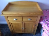 Nappy Changing Unit- solid and in great condition