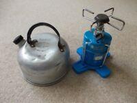 Camping Gaz burner & kettle