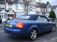 /// AUDI A4 CONVERTIBLE/CABRIOLET 1.8 T-SPORT /// 53 PLATE LEATHERS ///