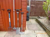 Various Garden Tools for sale at £5 each, all in good condition.