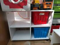 Home base storage unit with 2 boxes