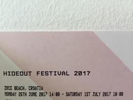 HIDEOUT FESTIVAL 2017 TICKET