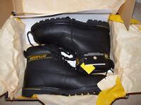 caterpillar boots black size 9 uk