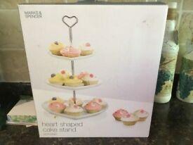 Three Tier Heart Cake Stand