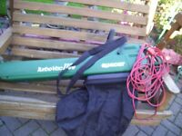 QUALCAST TURBOVAC 1100 Leaf Blower/vacuum Including Bag Good Condition