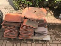 Spare roof tiles left over from extension