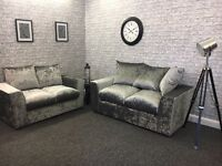 3+2 ice silver crushed velvet Liverpool