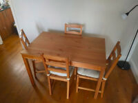 Dining Chairs and Table Set