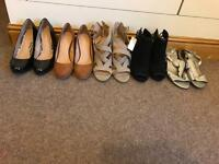 5 Pairs Ladies shoes size 3