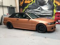 BMW 318ci convertible msport 3m matte copper metallic