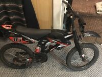 Motocross style kids bmx bike, good working condition.