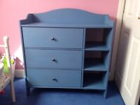 Blue draws with built in shelving unit from ikea (as good as new)