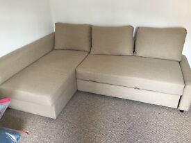 Ikea double sofa bed with storage
