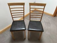Two dining chairs £20 for the pair