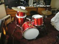 Complete 5-DRUM KIT with Upgrades....virtually unused