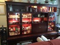 Coyle solid mahogany display unit.