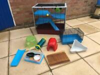 FREE! Large rat/hamster cage and accessories FREE!