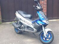 GILERA RUNNER VXR 200 2004 BLUE AND SILVER MAXI SCOOTER MOPED