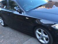BMW 1 series 2.0 118D 5dr Diesel, hatchback, black. 12 MONTHS MOT, JUST BEEN SERVICED, £30 ROAD TAX