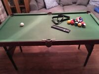 Junior pool table and pool balls
