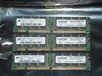 *** FREE *** - Crucial Desktop PC Memory Modules (x3)