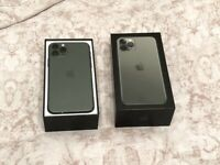 NO MARKS/SCRATCH IPHONE 11 PRO 64GB UNLOCKED MIDNIGHT GREEN 2 MONTH APPLE WARRANTY £640 NO OFFER