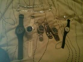 Joblot of new watches and chain and bracelet