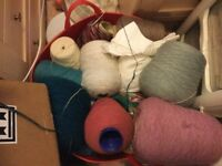 Large quantity of wool cones all types of yarn