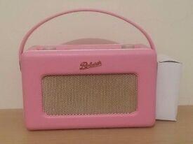Roberts rd50 dab fm digital radio in pink