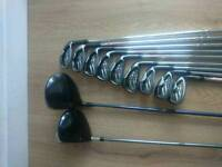 Taylor made burner irons and 2x titleist drivers