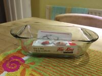 Anchor glass rectangle oven dish loaf style 5inx9in x 5 avaliable