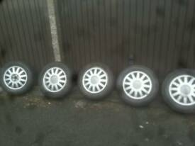 Audi a3 alloy wheels with good 195/65/15 tyers