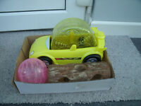 Toys for hamster cage / car,ball & log