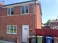 Manchester - Three bed semi with full bathroom and gardens front and rear, off road parking
