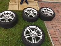 "Audi wheels 18 "" inch 2014 5x112 good condition a3 a4 a5 a6"