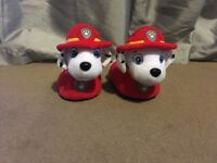 Paw patrol and m&s tartan slippers