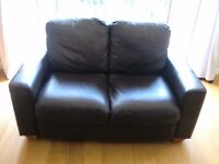 3 seater & 2 seater Leather settee (Dark Brown)