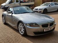 BMW Z4 2.0i SPORT 2007 07 REG MET SILVER / BLACK LEATHER LEATHER 6 SPEED MANUAL A/C 90K MANUAL ROOF!