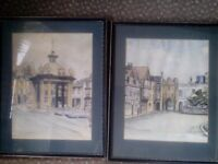 Jane Pearson watercolour painting of Beverley, plus hand coloured print. Ideal Christmas Present.